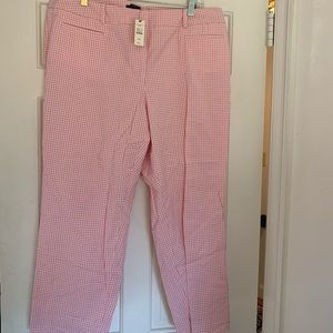 Talbots Perfect Chino Gingham Cropped Pants